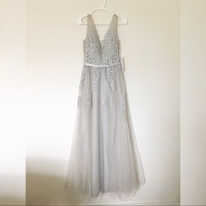 women's lace formal gown